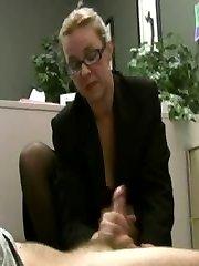 Horny aged lady boss