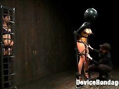 Beretta is subjected to delightfully cruel predicament bondage in this update. Scene one Mz...