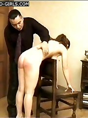 Dirty bitches caned hard on their bared bottoms