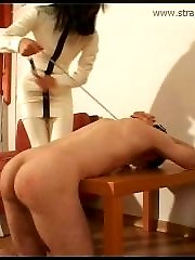 Slave gets his butthole stretched with his mistresss fists and even feet