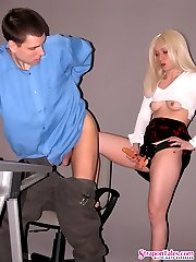 Hot guy getting ass stretched to the limits in strap-on fucking with cutie