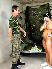 Woman fucking in the army