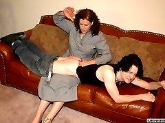 Miss Chris spanks Kade