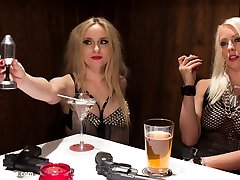 2 smoking hot blonde bad culo fucksluts embark on a fierce search to find a new initiate for their gun slinging, lesbian, sexual predatory girl gang. Lily white skin and raven haired Nerine is up for the challenge and is punished and fucked during their sick and twisted kinky gang initiation. Raunchy lezzie whipping and penalty, deep fisting, twat and ass licking and strap-on boinking dual penetration all included! This movie is not to be missed, trio women, all natural, curves in all the right places!