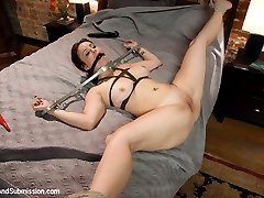 In this BDSM fantasy role play, Danny's mistress Penny tries to sabotage his marriage and gets rough punishing anal sex before she is introduced to his wife Bella who is helplessly bound to their bed.