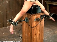 Welcome back DragonLily to Device Bondage.  In the 2 years DragonLily was off she went out and became a certified MILF.  We are glad to have her back. So lets just get to it, shall we?  The sybian is the most powerful vibrator on the planet.  It will rip and tear orgasm after orgasm out of you.  If you are bound and impaled on one you have no hope of not cumming.  But cumming is not your real problem - not cumming over and over and over what you need to be worrying about.  The Sybian will destroy you. It will vibrate and make you cum until you either pass out or slip into sub-space so deep you're gone to the world anyway.  It's hot for us to watch someone vibrated to near hysteria. But for the victim it starts as pure heaven that slips slowly into a personal hell you can not imagine, as you are made to cum and cum with no hope of stopping it.