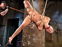 Today is the second day of a three day adventure that Abella is going through. She arrived at the armory and was put through her paces while bound and fucked on Fucking Machines yesterday. Today is the day we get to see her in brutal bondage and used like the whore that she is. Abella offered up her entire body to The Pope to do with what he pleased. The opportunity is not wasted as he destroys her with evil torment and then uses every hole she has for his pleasure.