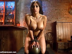 In this glamour roleplay, the very super-sexy and busty Alexis Breeze thinks she can get away with stealing from the register at her job.  Her chief, Derrick Pierce, finds out and decides to train this sexy Latina a lesson she'll never leave behind. Punishing Alexis has got her dousing humid and begging to be poked hard while tied in unpreventable bondage!