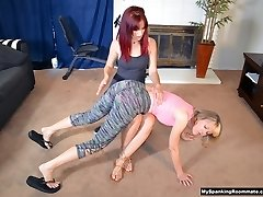 Clare's New Roommate Spanks Her