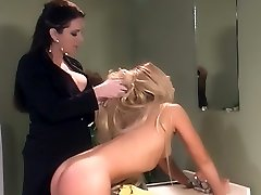 Cute blonde Joelene submits to Taylor St Claire and gets a excellent dose of OTK spanking