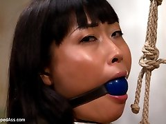 Yuki Mori was so damn cute displayed with her ass in the air, her cunt wet and begging for orgasms that I couldn't help but post this bonus update! Originally this was a live show with two models but unfortunately the other model did not feel well and we had to end part of the shoot. This didn't stop Aiden from bending Yuki over her knee for a hot spanking, torturing her perfect nipples, tying her spread eagle, strapping it on and making her cum over and over again for your viewing pleasure. Enjoy this bonus update!!!!   M.M.~