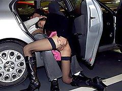 Naughty couple parking sex