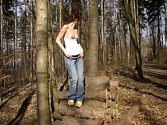 Hardcore insatiable GF gets banged outdoors