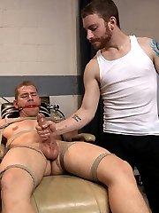 Sebastians at the dentist visiting Dr. Alex Adams when he ties the poor dentist up and calls Van...