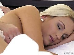 Alluring blonde Cecilia Scott gets her muff licked and pounded