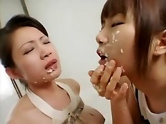 Incredible Chinese breezy in Crazy Lesbian, BDSM JAV movie