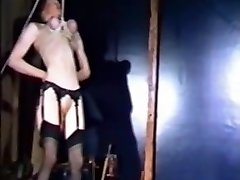 Vintage Bdsm Flick with two hot slaves P2