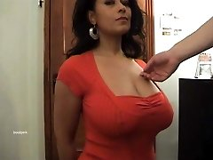 Giant tits Danica Collins as her titties groped.