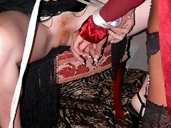 Disgusting sluts spread their cunt lips and assholes and spank their cute butts red