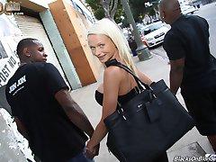 Black Cock Slut, Cindy Sun gets Hammered at Blacks On Blondes!