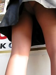 Candid upskirts in the street collection