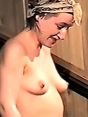 This sweet cuite has no idea about small cameras, which see her every action. Of course we shot her massive tits, nice ass and trimmed snatch which looks awesome!