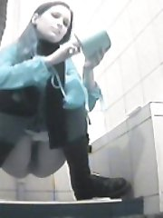 Old and young pissers tinkling in front of spy cam
