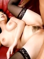 Megumi Haruka Asian in sexy stockings is deeply pumped in nooky