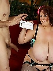 Amazing Huge Tits On Slutty Redhead BBW