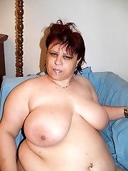 Horny mature BBW Marta takes a cock inside her fat muff and gets a mouthful of cum