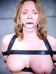 Rain DeGrey enjoys watching Ashley Lane cum. It's nice to see someone else get their pussy tortured with intense vibrations for a bit. This beautiful redhead has a banging body, firm tits, and an amazingly sensitive pussy. So sensitive that a few minutes with the Hitachi has her screaming her lungs out through the ball gag. It's a complete orgasm overload. But it will be Rain's turn again soon.