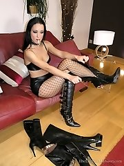Peeping At Her Boots