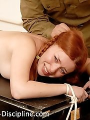 A crappily severe caning for 2 redhead girls