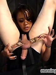 Militant Mistress Annie Cruz gets new recruit CJ into heavy submission with strict predicament...