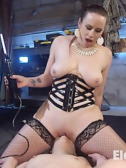 Scared Electroslut Juliette March is bound, gagged, electrified, and at the mercy of the...