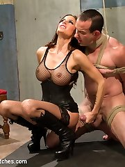 Mistress Gia Dimarco is pure sex and evil in this intense dungeon scene! Long time Divine Bitch...