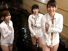 Japanese AV Model and chicks in shirts only TokyoBang.com