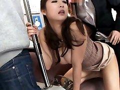 Satomi Suzuki Asian gets vibrator on hairy PublicSexJapan.com