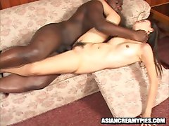 horny asian girl gets her twat full of man-goo