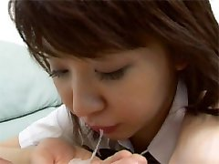 Japanese teen catching cum