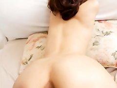 Nami Honda Asian with dark nips has furry vagina well screwed