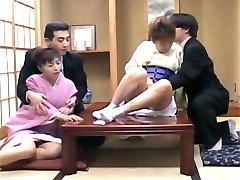Asian guys rubbing titties