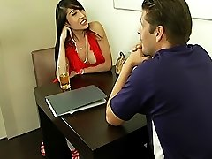 Charming t-girl Pim gets her tiny ass nailed
