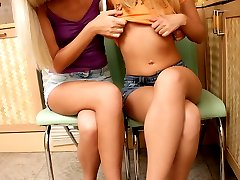 Two hot teens enjoying cunnilingus