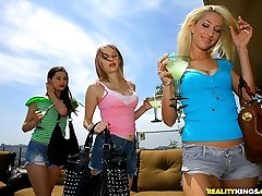 Smoking hot long leg lesbian babes get masturbate each other in this hot dildo fucking 3some...