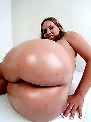 Hot, bubble butt babe bent over and slammed!