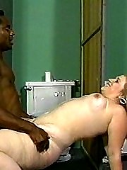 Horny white bitch gets some big black cock