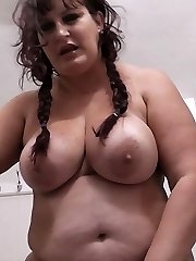 Fat tourist girl got her thick juicy assets cock-stabbed in a public restroom