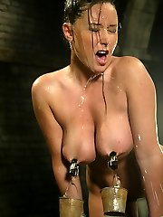Lovely Christina Carters tongue-tied, nipple-pulling, weekly visit to the Dungeon Dentist leaves...