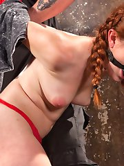 Super Spanish Sex Kitten Amarna Miller steps into Hogtied with a willing smile and a slamming...